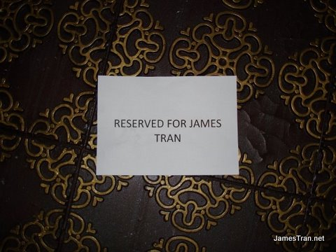 Reserved for James Tran - woot!